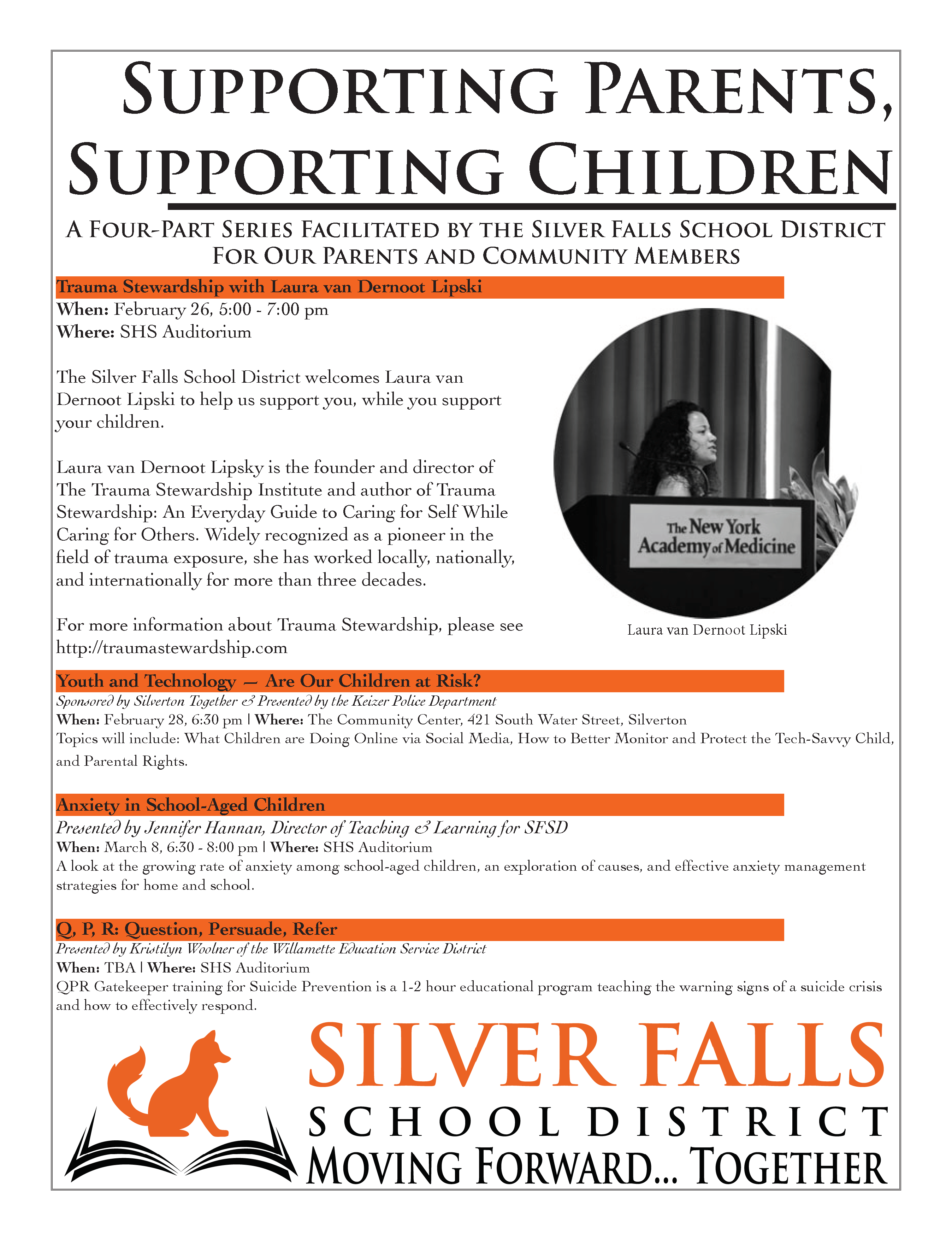 Parent Support Flier. See download link above.