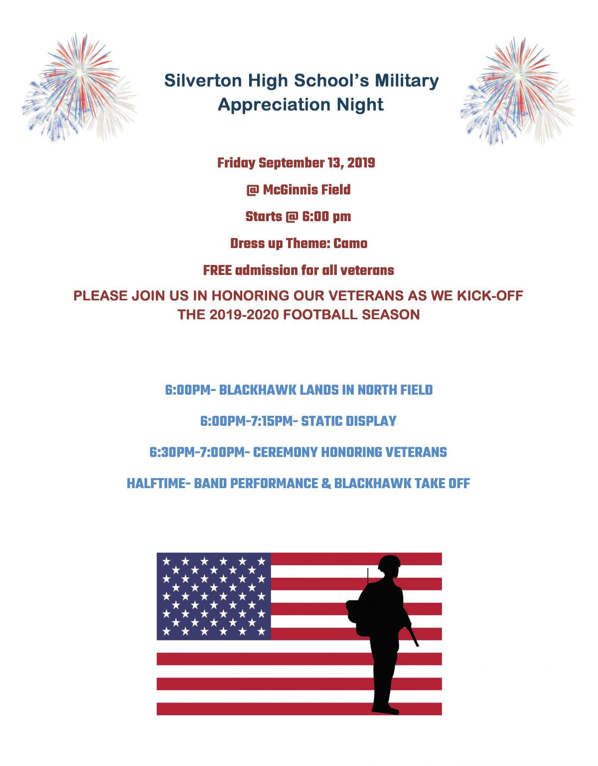 Military Appreciation Night Flyer